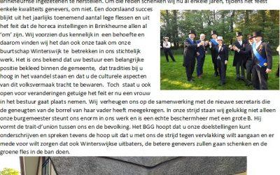 Brief aan Bestuur Volksfeest Winterswijk