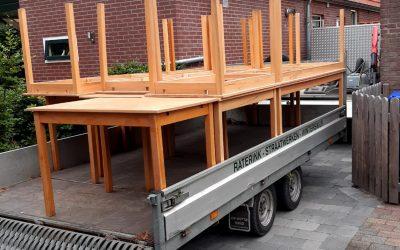 Nieuwe tafels… ook te huur