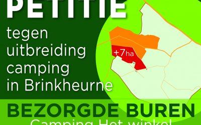 petitie tegen uitbreiding camping